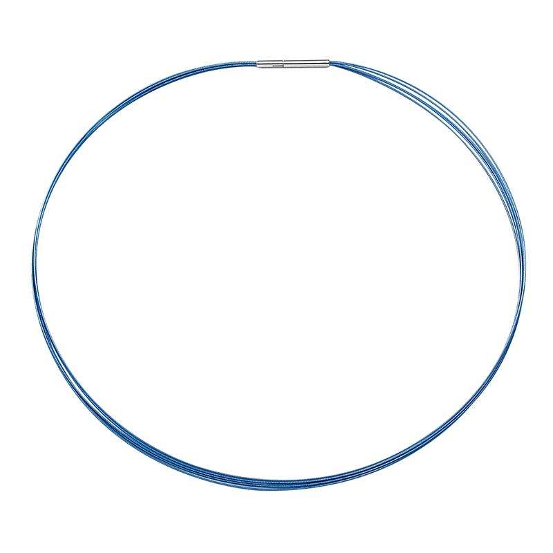 FINO Collier, rhodiniert, blau