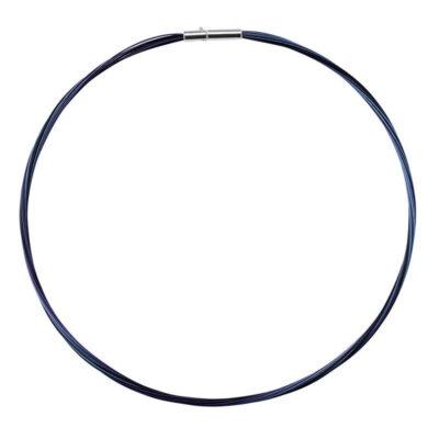 COLORE Collier, rhodiniert, blau, schwarz