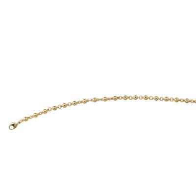 SFERA Armkette, Fusskette, Chanelkette, vergoldet