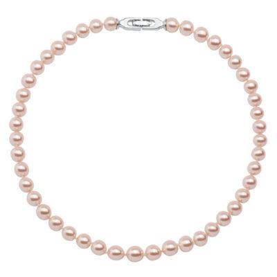 CLASSY PEARL Halskette, rhodiniert, hell rosé