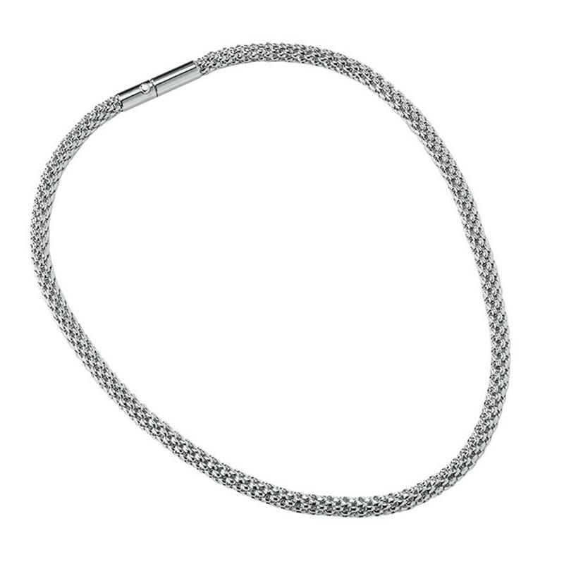 ROUNDER Halskette, rhodiniert