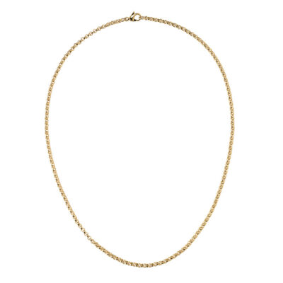 CIRCLE Halskette, Chanelkette, vergoldet