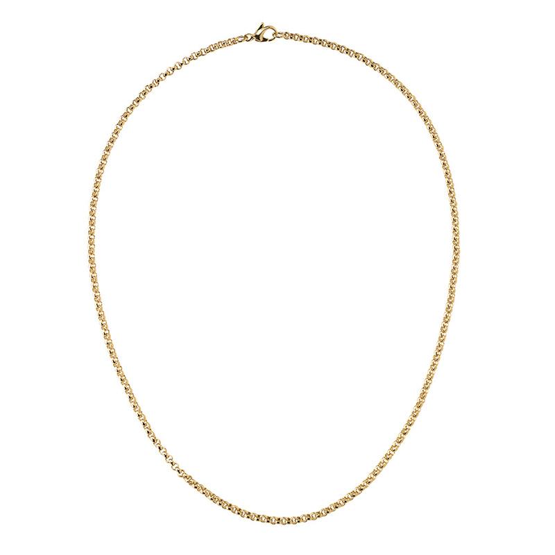 CIRCLE Halskette, vergoldet
