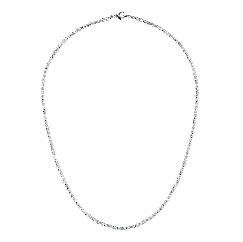 CIRCLE Halskette, rhodiniert