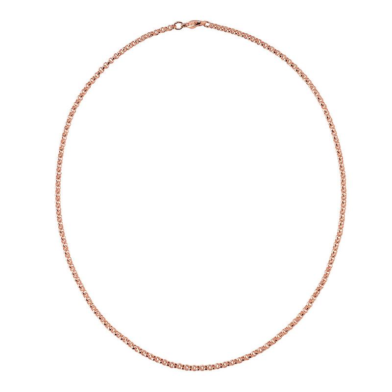 CIRCLE Halskette, rosè vergoldet
