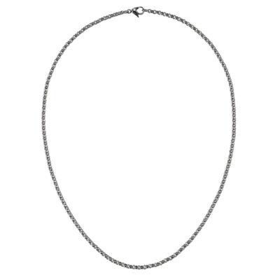 CIRCLE Halskette, Chanelkette, rutheniert