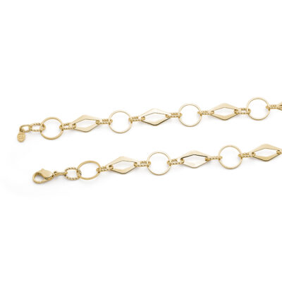 DRESSY Chanelkette, vergoldet
