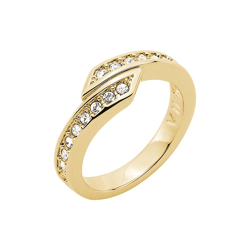 FLORETTA Ring, vergoldet, kristall-farbig