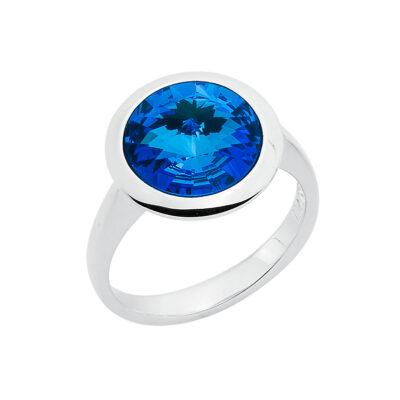 GALAXY STAR Ring, rhodiniert, saphirblau