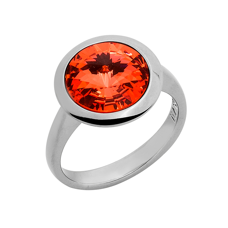 GALAXY STAR Ring, rutheniert, orange