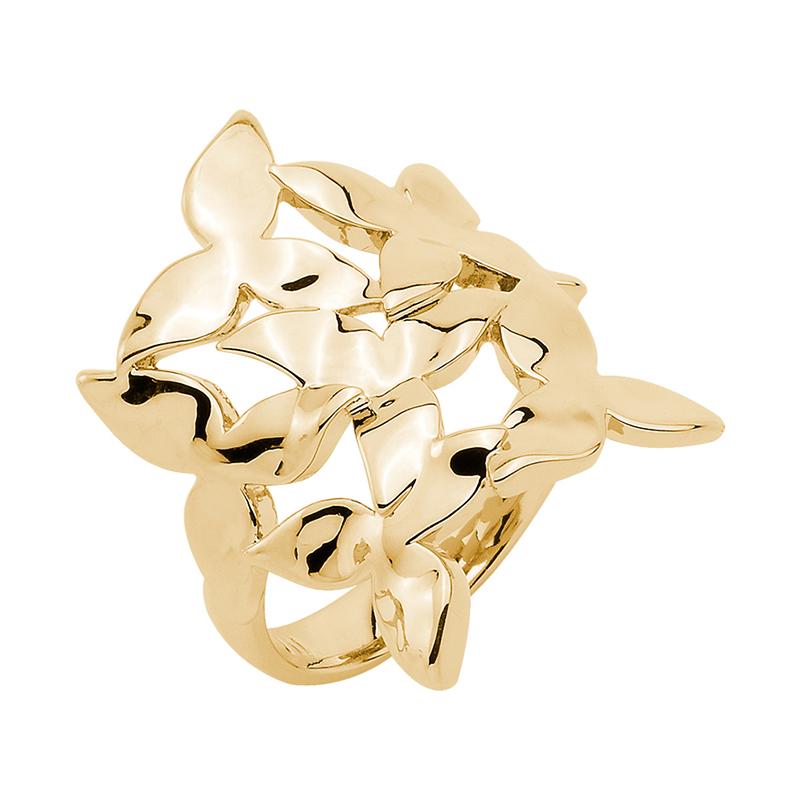 IVY Ring, vergoldet