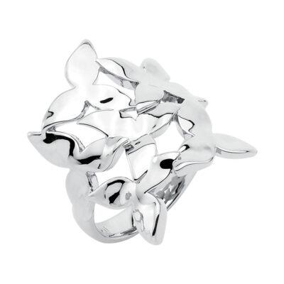 IVY Ring, rhodiniert