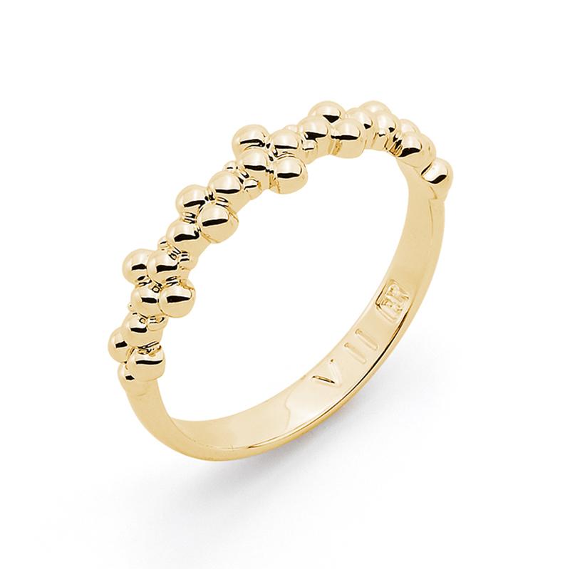 MIMOSA Ring, vergoldet