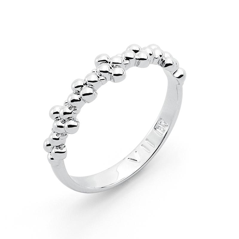 MIMOSA Ring, rhodiniert