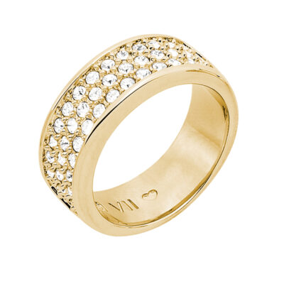 BABY SUGAR RUSH Ring, vergoldet, kristall-farbig