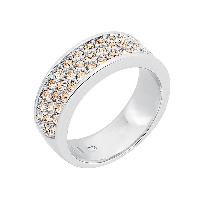 BABY SUGAR RUSH Ring, rhodiniert, nude