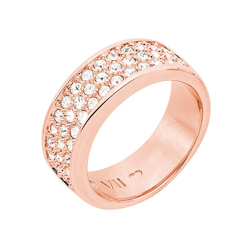 BABY SUGAR RUSH Ring, rosè vergoldet, kristall-farbig