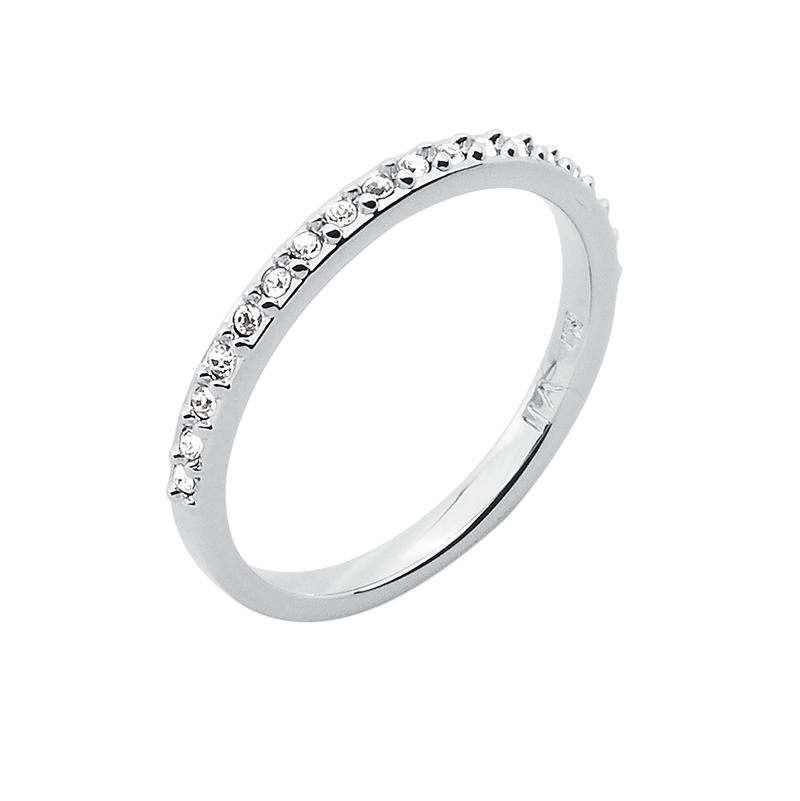 SUGAR Ring, rhodiniert, kristall-farbig