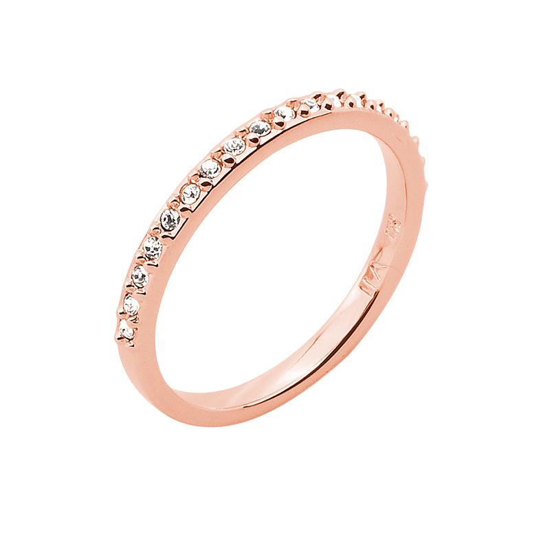 SUGAR Ring, rosè vergoldet, kristall-farbig