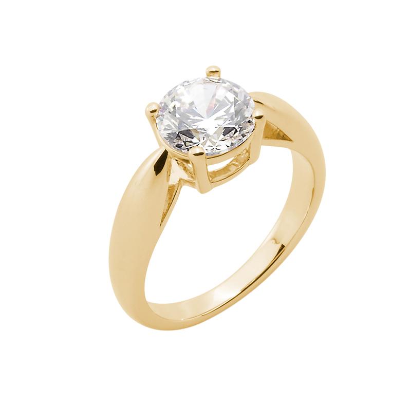 SHINE Ring, vergoldet, Zirkonia