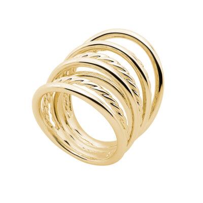 WILD & FREE Ring, vergoldet