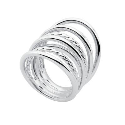 WILD & FREE Ring, rhodiniert