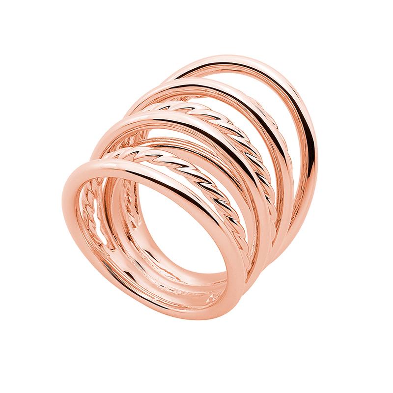 WILD & FREE Ring, rosè vergoldet