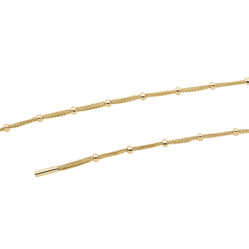 DOTS Halskette, Chanelkette, vergoldet