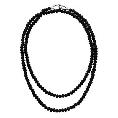 MAGIC ORCHIDEA Collier, rhodiniert, schwarz