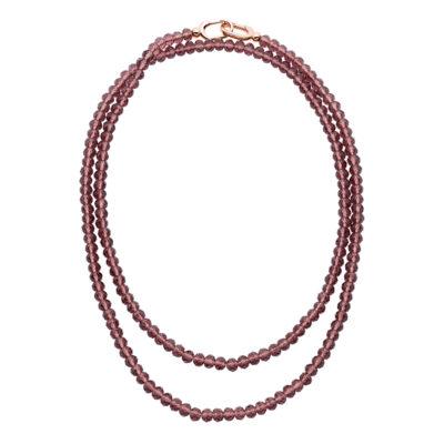 MAGIC ORCHIDEA Collier, rosè vergoldet, bordeaux-rot
