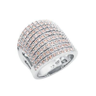 SUGAR RUSH Ring, rhodiniert, nude