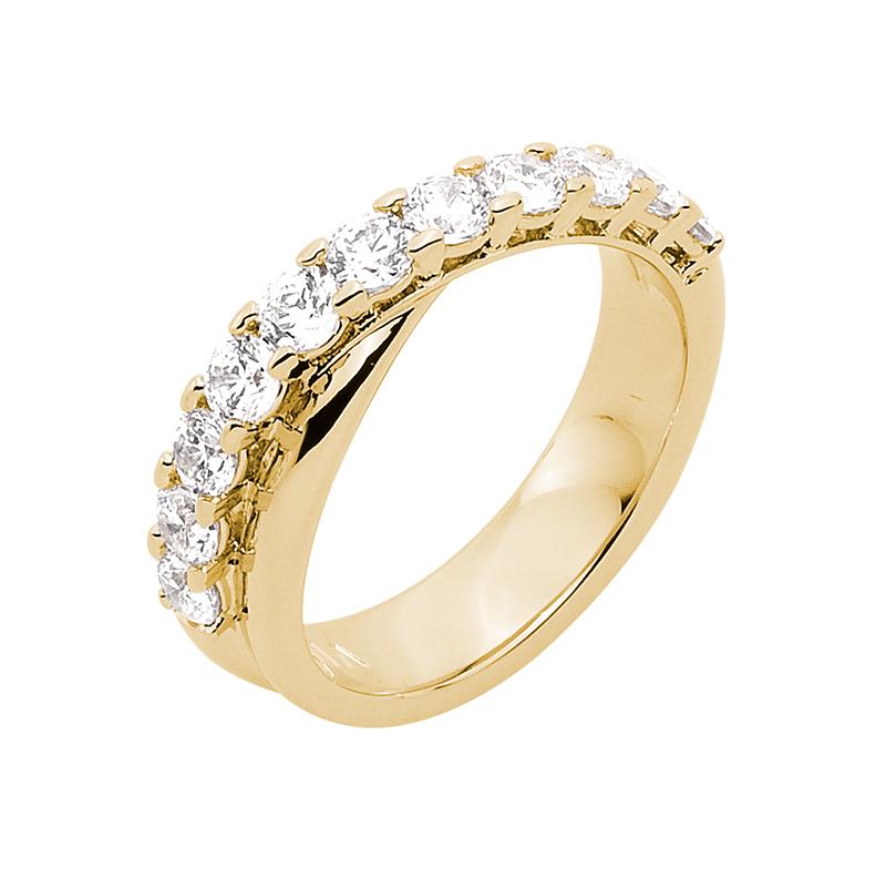SMILE Ring, vergoldet, Zirkonia
