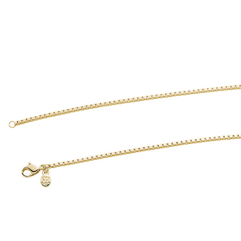 VENEZIA Halskette, Chanelkette, vergoldet