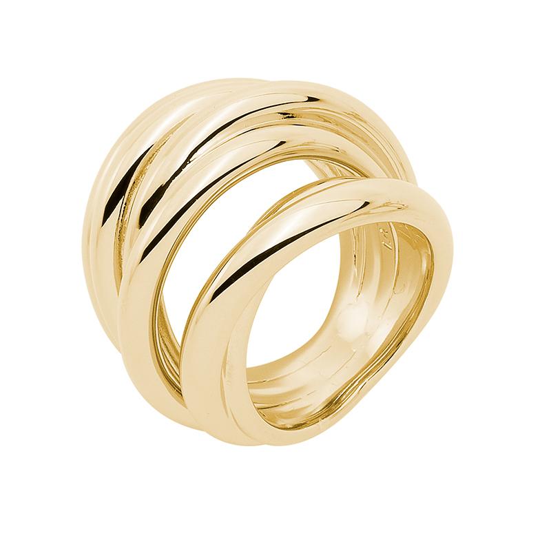 COSMOPOLITAN Ring, vergoldet