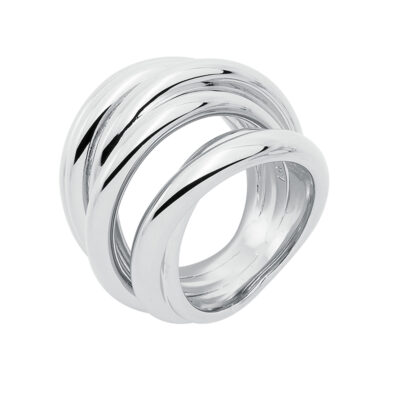 COSMOPOLITAN Ring, rhodiniert