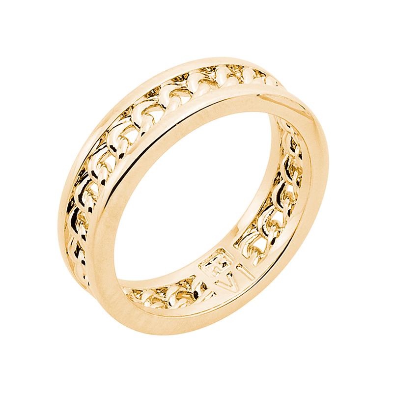 CHAIN LOVE Ring, vergoldet