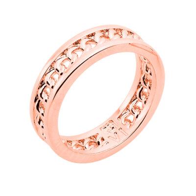 CHAIN LOVE Ring, rosè vergoldet