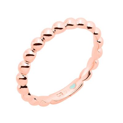 LA BOUM Ring, rosè vergoldet