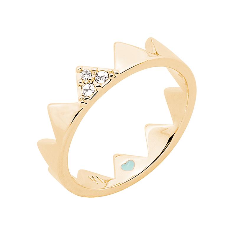 LITTLE CIRQUE DU SOLEIL Ring, vergoldet, kristall-farbig