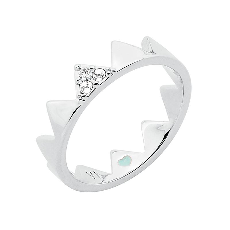 LITTLE CIRQUE DU SOLEIL Ring, rhodiniert, kristall-farbig