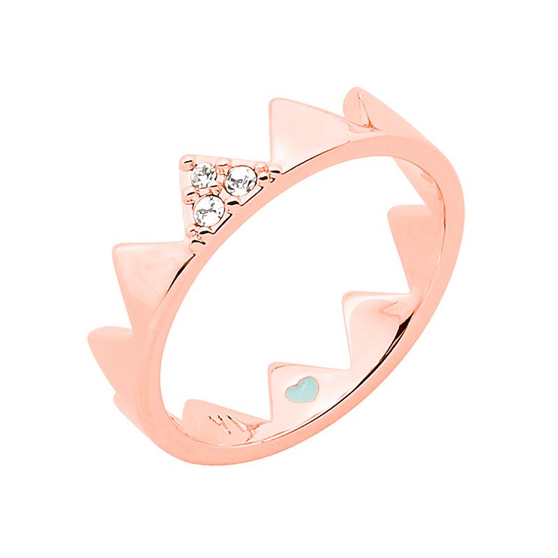 LITTLE CIRQUE DU SOLEIL Ring, rosè vergoldet, kristall-farbig