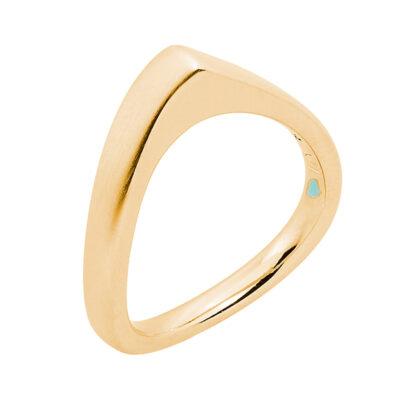 LAOLA  Ring, vergoldet matt