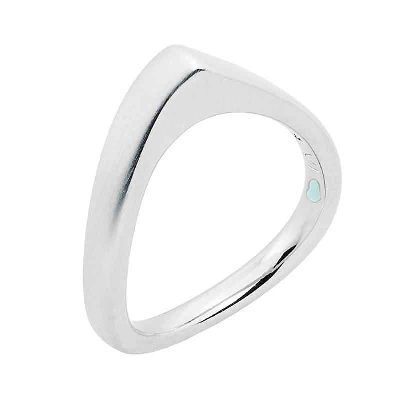 LAOLA  Ring, rhodiniert matt