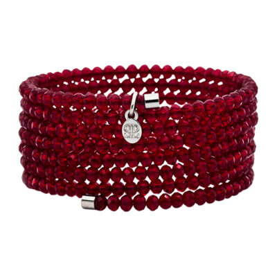 GLAMOROUS BANGLE Armreif, rutheniert, rot