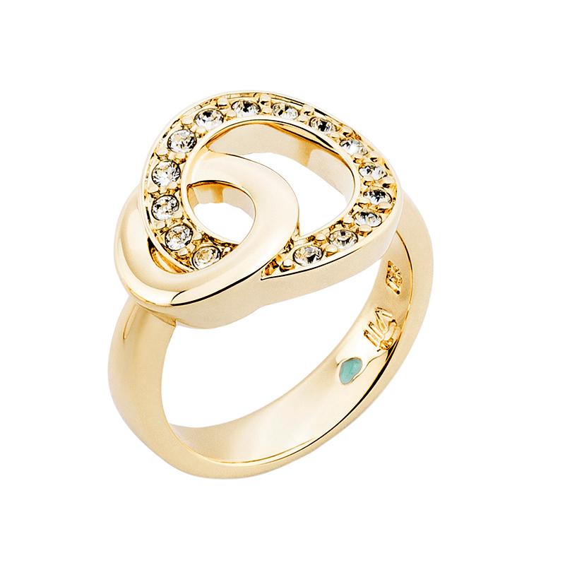 OPERA Ring, vergoldet, kristall-farbig