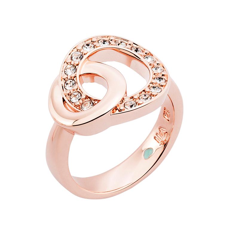 OPERA Ring, rosè vergoldet, kristall-farbig