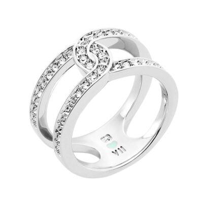 DATING A ROYAL Ring, rhodiniert, kristall-farbig