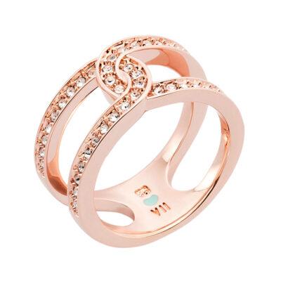 DATING A ROYAL Ring, rosè vergoldet, kristall-farbig