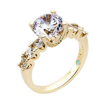 MEGHAN SPARKLE Ring, vergoldet, Zirkonia