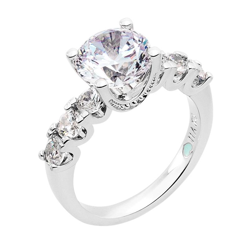 MEGHAN SPARKLE Ring, rhodiniert, Zirkonia